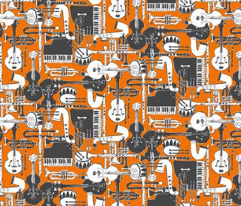 weave jazz orange fabric by scrummy on Spoonflower - custom fabric