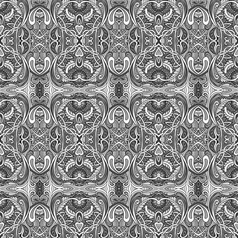 Gray Traditions fabric by edsel2084 on Spoonflower - custom fabric