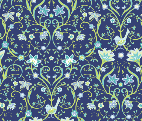 Flowering Love fabric by jillbyers on Spoonflower - custom fabric