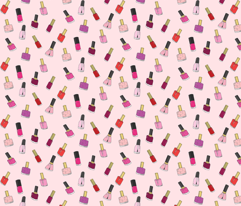 nail polishes pink fabric by emmakisstina on Spoonflower - custom fabric