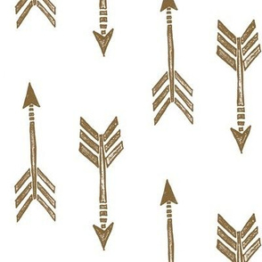 gold flying arrows