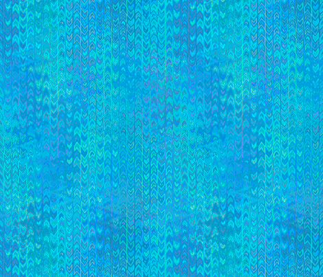 feather in ocean blue fabric by weavingmajor on Spoonflower - custom fabric