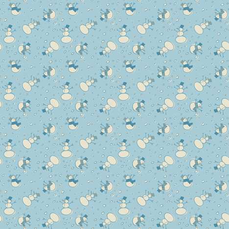 Christmas snowmen - colorway 3 fabric by aliceelettrica on Spoonflower - custom fabric