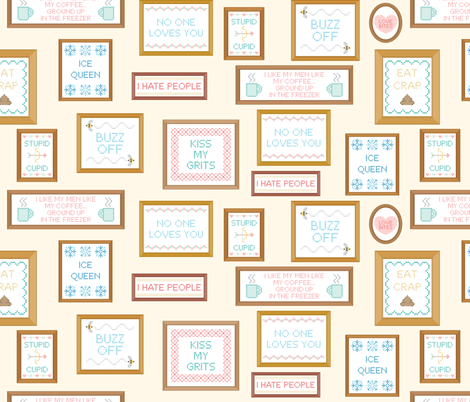 Look at All the F***s I Give fabric by lunasol on Spoonflower - custom fabric