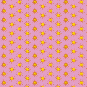 Happy Suns in Pink