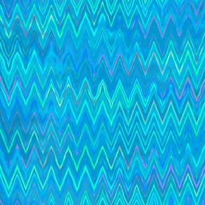 zigzag in ocean blue