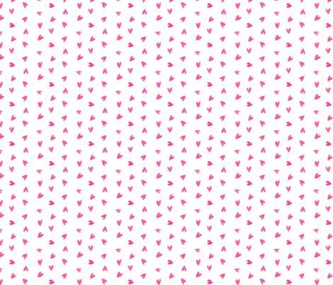 Ditsy pink hearts fabric by daria_rosen on Spoonflower - custom fabric