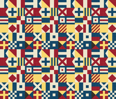 SignalFlags fabric by laurenmary on Spoonflower - custom fabric