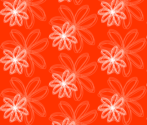 flower_burst_Orange fabric by stickelberry on Spoonflower - custom fabric