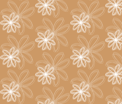 flower_burst_sand fabric by stickelberry on Spoonflower - custom fabric