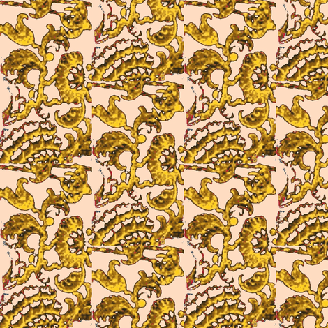 Golden Fans fabric by amyvail on Spoonflower - custom fabric