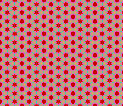 red flowers on grey fabric by daria_rosen on Spoonflower - custom fabric