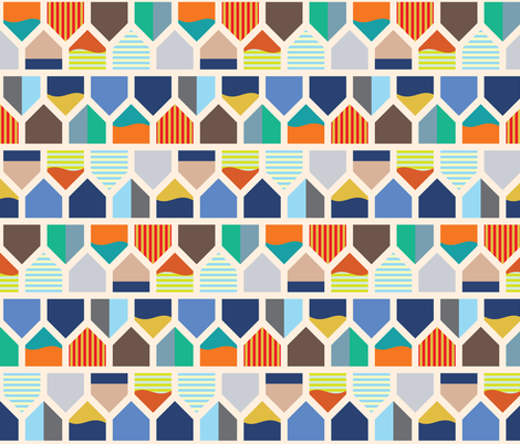 Houses_of_Sweden fabric by laurenmary on Spoonflower - custom fabric