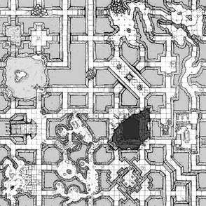 Geomorphic Dungeon Map Grey