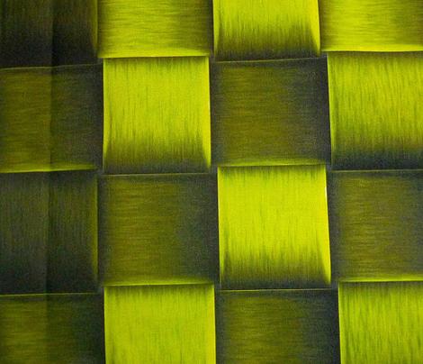 bright green metal weave