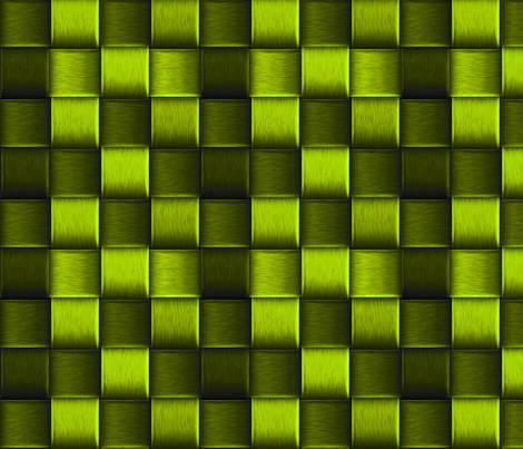 bright green metal weave fabric by craftyscientists on Spoonflower - custom fabric