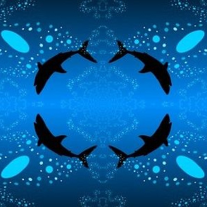 Shark in the Water Blue