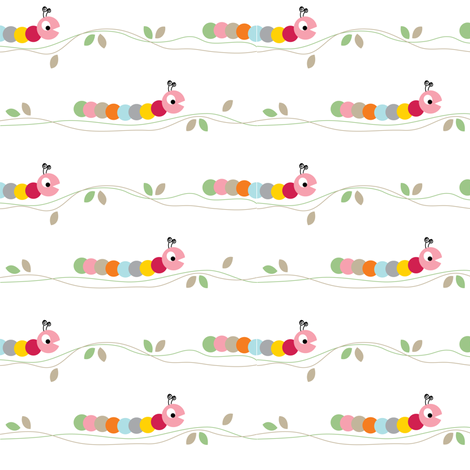 Crawling Caterpillar fabric by halfpinthome on Spoonflower - custom fabric