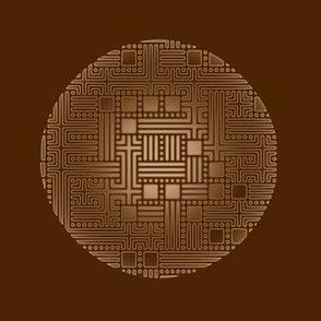 Bronze Maze Circles on Brown © Gingezel™