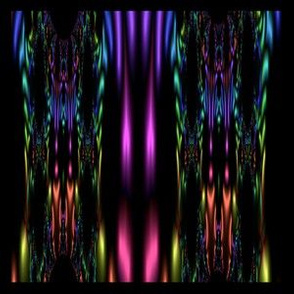 Black Fractal with Bright Colors © Gingezel™