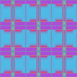 Serene Blue and Purple Abstract © Gingezel™