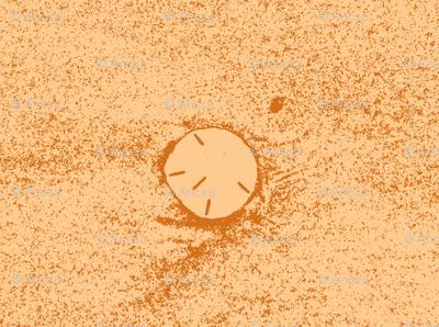 Rising sun-glowing sand