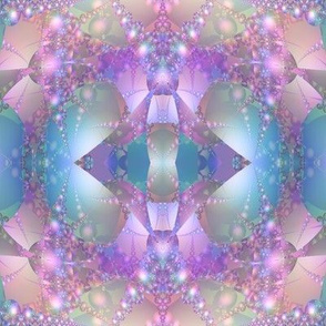 Blue Purple and Pink Bubble Fractal © Gingezel™
