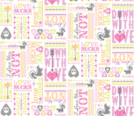 Cross My Heart fabric by tonia_dee on Spoonflower - custom fabric