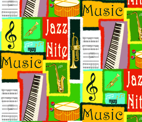 RazzMaTazz Jazz. fabric by house_of_heasman on Spoonflower - custom fabric