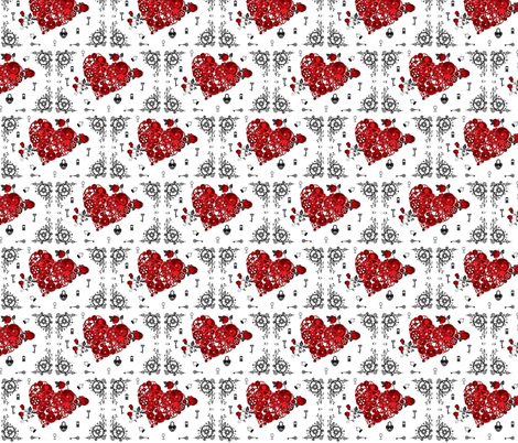 Bigger Heart Steampunk fabric by awietylexi on Spoonflower - custom fabric
