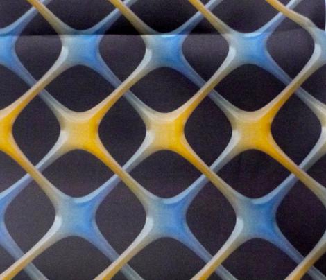 blue/yellow weave