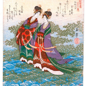 Two Japanese Water Fairies