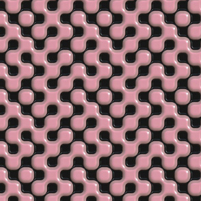 pink/black gel