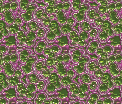 green bubbles with purple haz fabric by craftyscientists on Spoonflower - custom fabric