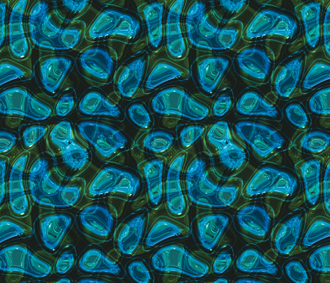 blue/green psychedelic fabric by craftyscientists on Spoonflower - custom fabric