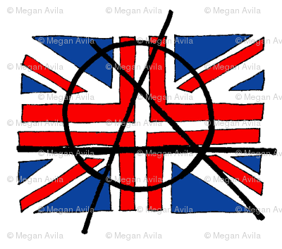 Anarchy Union Jack Flag fabric  electricfoxfabrics  Spoonflower