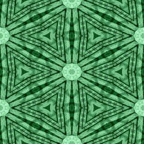 Patchwork: Triangulated Hexagons with Studs - Green