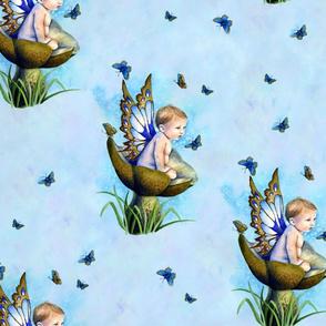 Little Boy Blue Fairy on Toadstool by Selina Fenech