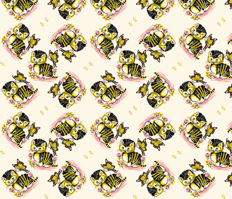 Berta's Kitty fabric by craftyscientists on Spoonflower - custom fabric