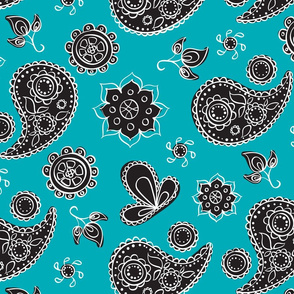Pretty Paisley Please - turquoise