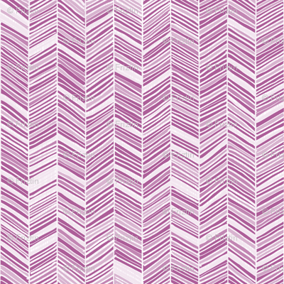 Herringbone Hues of Radiant Orchid by Friztin