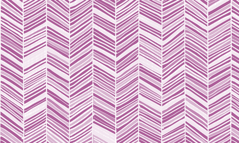 Herringbone Hues of Radiant Orchid by Friztin fabric by friztin on Spoonflower - custom fabric