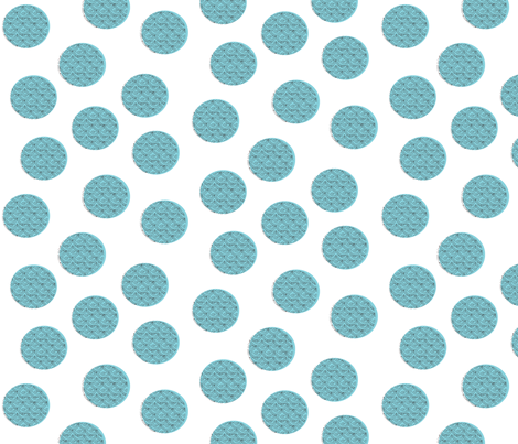 Jumbo kooky dots on white fabric by vanillabeandesigns on Spoonflower - custom fabric