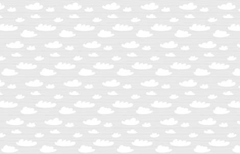 Cloud Toile by Friztin fabric by friztin on Spoonflower - custom fabric