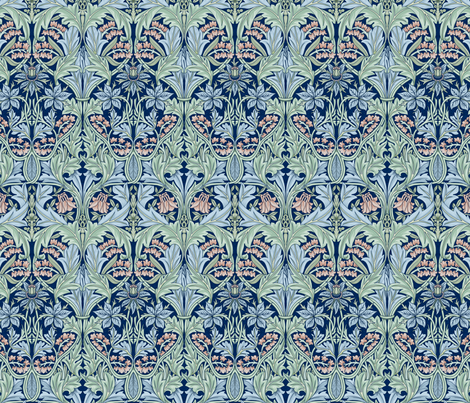 William Morris Bluebell/Columbine fabric by chantal_pare on Spoonflower - custom fabric