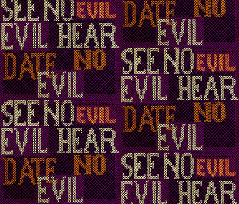 Date No Evil fabric by edsel2084 on Spoonflower - custom fabric