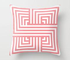 Coral Nautical Stripes