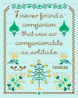 Companionable Solitude Motto