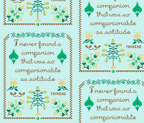 Companionable Solitude Motto fabric by mongiesama on Spoonflower - custom fabric