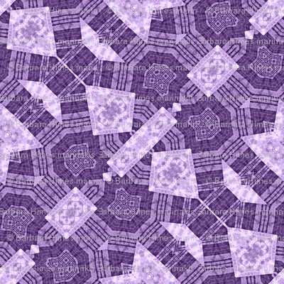 Patchwork in Purple: Busy Bits